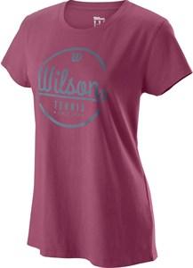 Футболка женская Wilson Lineage Plum/Flint  WRA777502  su19