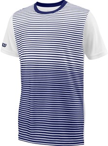 Футболка для мальчиков Wilson Team Striped Crew Blue/White  WRA767203  sp18