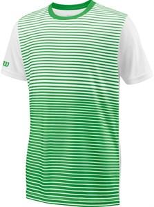 Футболка для мальчиков Wilson Team Striped Crew Green/White  WRA767202  sp18