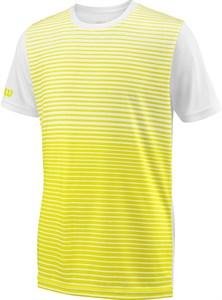 Футболка для мальчиков Wilson Team Striped Crew Yellow/White  WRA767205  sp18
