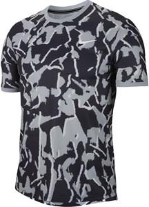 Футболка мужская Nike Court Dry Team Print Sky Grey  BV0768-042  sp20