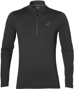 Футболка мужская Asics LS 1/2 Zip Jersey Dark Grey  141202-0773  fa17