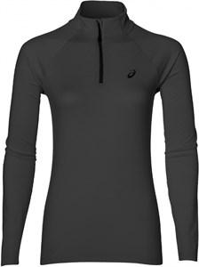 Футболка женская Asics LS 1/2 Zip Jersey Dark Grey  141647-0773   fa17