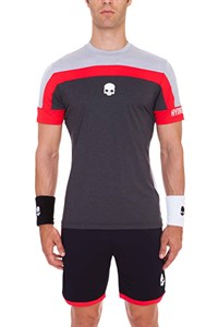 Футболка мужская Hydrogen Tech Skull Grey Melange/Black  T00125-216
