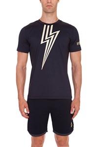 Футболка мужская Hydrogen Tech Flash Black/Gold  T00122-C63