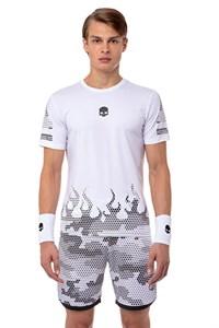 Футболка мужская Hydrogen Tech Hot White/Black  T00208-077
