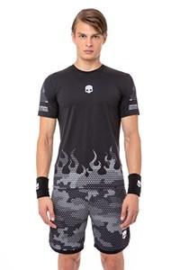 Футболка мужская Hydrogen Tech Hot Black/Grey  T00208-B82