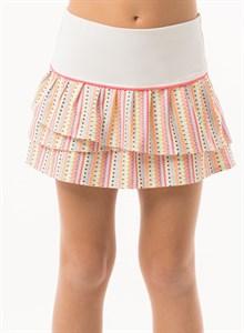 Юбка для девочек Lucky in Love Lit Pleat Tier White/Coral  B97-662647  su19
