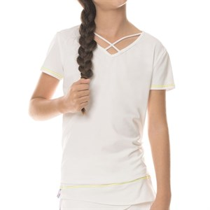 Футболка для девочек Lucky in Love Criss Cross SS White  T181-120  fa19