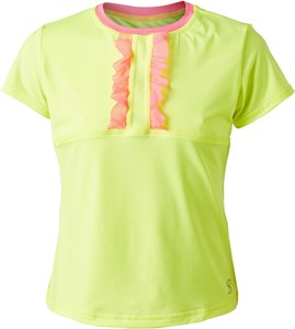 Футболка для девочек Sofibella Tokyo Score SS Neon Yellow/Pink  4445-ELE  fa18