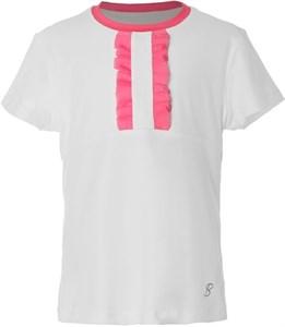 Футболка для девочек Sofibella Tokyo Score SS White-Pink  4445-WHT  fa18