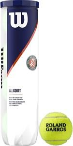 Мячи теннисные Wilson ROLAND GARROS ALL COURT 4 BALLS  WRT116400