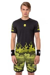 Футболка мужская Hydrogen Tech Hot Black/Fluo Yellow  T00208-D56