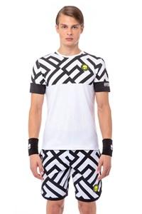 Футболка мужская Hydrogen Tech Labyrinth White/Black  T00220-077