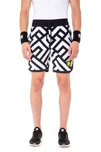 Шорты мужские Hydrogen Labyrinth White/Black  T00244-077
