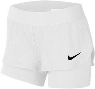 Шорты для девочек Nike Court Flex White/Black  CJ0948-100  sp20