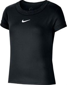 Футболка для девочек Nike Court Dry Black/White  CQ5386-010  su20