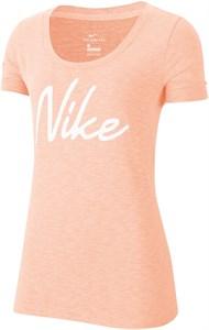 Футболка женская Nike Dry Logo Training Washed Coral/White  CQ0258-664  su20
