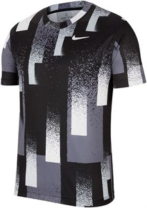 Футболка мужская Nike Court Dry Printed Crew Black/White  CK9820-010  sp20