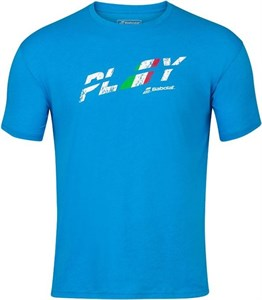 Футболка мужская Babolat Exercise Country Italy Blue Aster  4MS20444-4052