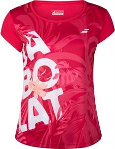 Футболка женская Babolat Exercise Graphic Red Rose  4WTA012-5028