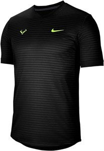 Футболка мужская Nike Court Rafa Challenger Black/Volt  CI9148-010  su20