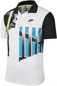 Поло мужское Nike Court Advantage White/Black/Neo Teal/Black  CK9793-101  su20