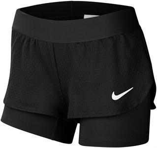 Шорты для девочек Nike Court Flex Black/White  CJ0948-010  su20