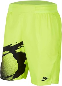 Шорты мужские Nike Court Slam 8 Inch Hot Lime/Black  CK9775-363  su20