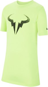 Футболка для мальчиков Nike Court Dry Rafa Volt/Black  CW1521-702  su20