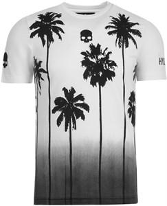 Футболка мужская Hydrogen Palm Tech White/Black  T00416-001
