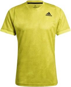 Футболка мужская Adidas Freelift Printed Primeblue Acid Yellow/Wild Pine/White  GQ2221  sp21