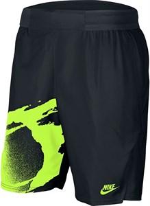 Шорты мужские Nike Court Slam 8 Inch Black/Hot Lime  CK9775-010  su20