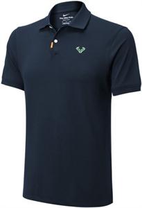 Поло мужское Nike Rafa Polo Slim Obsidian/Lime Glow  CV2969-451  sp21